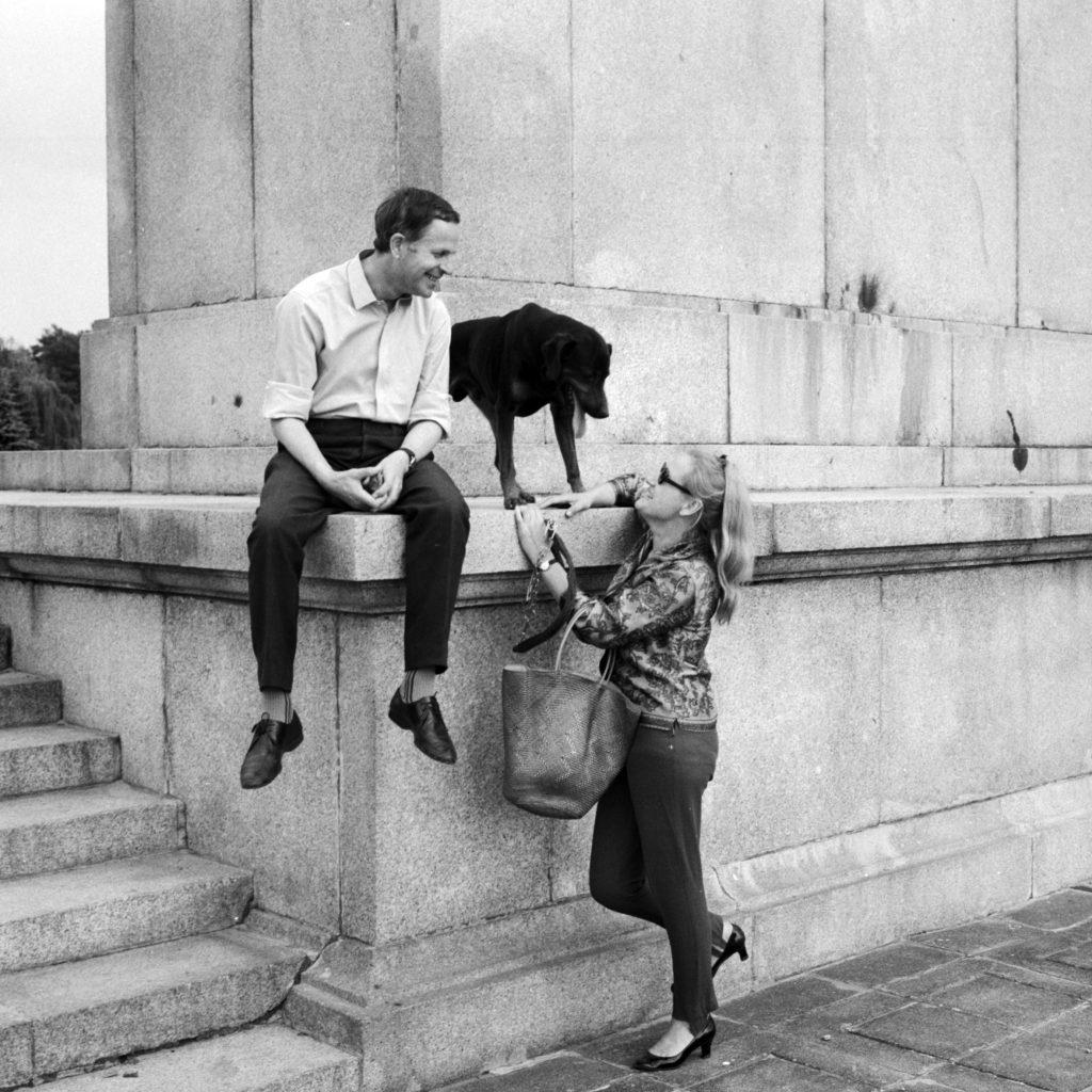 Zdjęcie przedstawiające Jana i Halinę Machulskich z 1968